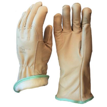 Visuel 330BHFM PEAUCEROS gant de travail cuir doublé molleton POIGNET LONG