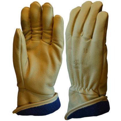 Visuel 333BHFG PEAUCEROS gant de travail cuir Beige Hiver doublé polaire