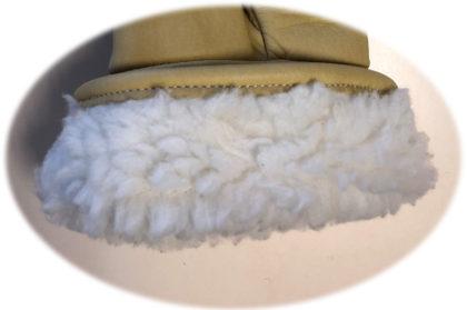 Visuel 333BHFL PEAUCEROS gant de travail cuir beige Doublure molleton lainé Hiver