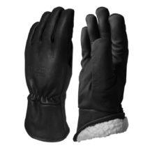 Visuel 335BHFL PEAUCEROS Gant de travail cuir noir Doublure molleton lainé hiver doublé grand froid montagne