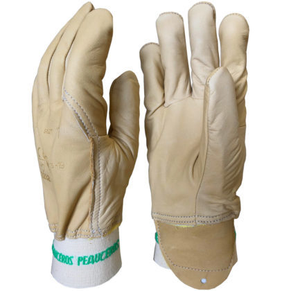 Visuel 355BHK PEAUCEROS Gant de travail cuir partiellement doublés para-aramide