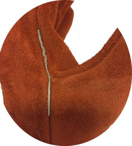 Visuel 473 PEAUCEROS Gant de travail cuir croûte soudure anti-chaleur Détail 1