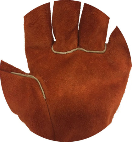 Visuel 473 PEAUCEROS Gant de travail cuir croûte soudure anti-chaleur Détail 2