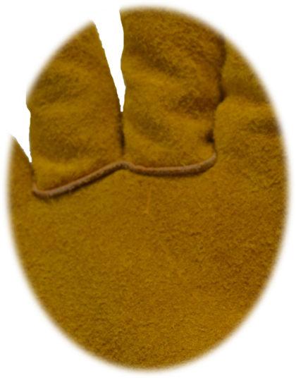 Visuel 490BHK PEAUCEROS gant de travail cuir doublé kevlar
